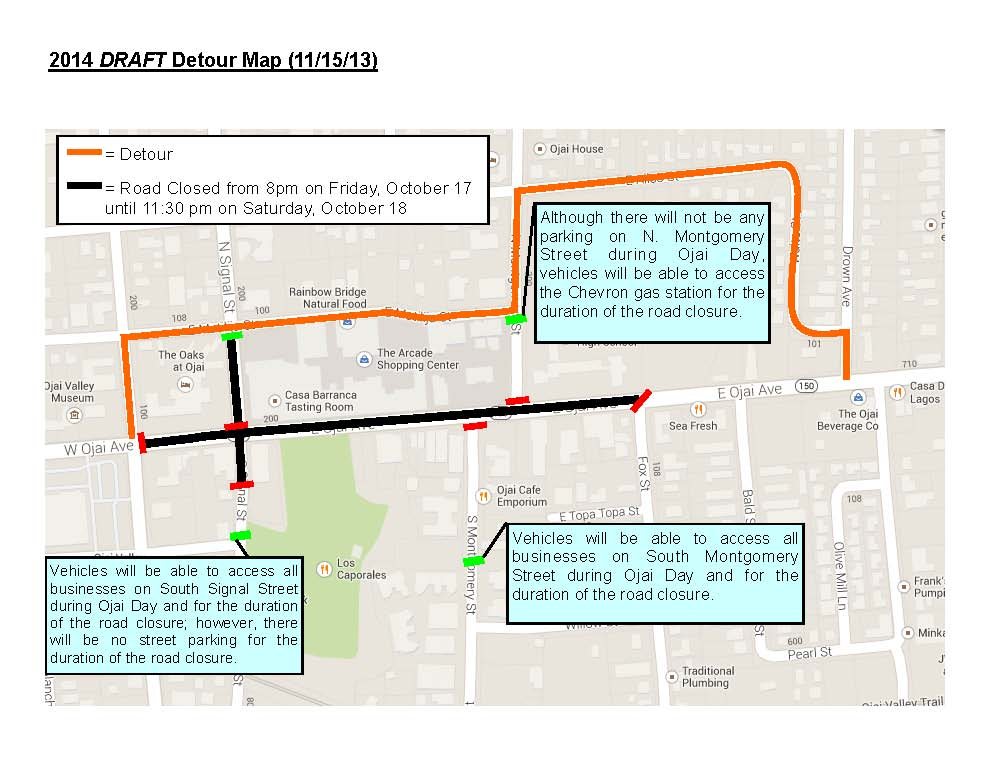 Draft Detour Map